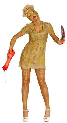 verätzte Horror Krankenschwester Halloween Zombie Bio Kostüm für Damen Gr. M-L