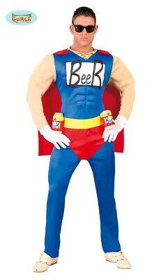 Beerman Superheld Herren Biermann Bier - Mann Superhelden Kostüm