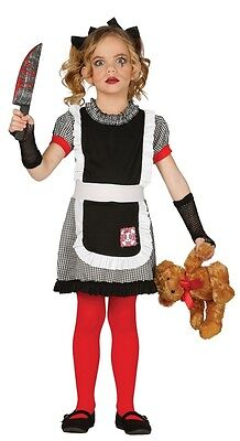 Girls Deadly Doll Dead Scary Halloween Fancy Dress Costume Outfit 3-12 years](Scary Doll Costumes For Girls)