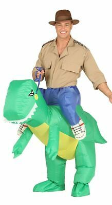 Mens Inflatable Ride On Piggyback Dinosaur Fancy Dress Costume Outfit (Large)