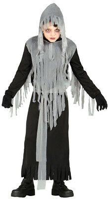 Kids Ghost Costume Boys Girls Halloween Fancy Dress Outfit Age Hooded 7-9-12 - Halloween Costumes For Girls Age 9
