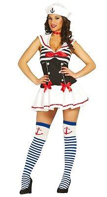 Damen Sexy Matrose Junggesellinnenabschied Militär Halloween Kostüm Kleid Outfit