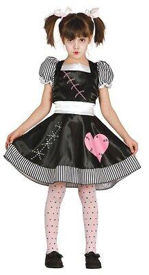 Mädchen Voodoo Puppe Halloween Kostüm Gruselig Kinder Outfit Alter - Voodoo Kostüm Kinder