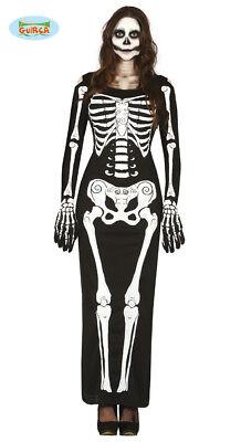 GUIRCA Costume vestito scheletro halloween carnevale donna adulto mod. 80948