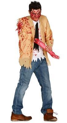 Hombre un Armadas Amputado Zombie Disfraz de Miedo para Halloween que Rascan - Disfraz Halloween Miedo