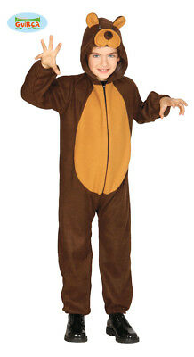 Guirca Teddybär Kostüm für Kinder Unisex Karneval Bär Tierkostüm Braunbär