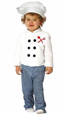 Baby Chef Outfit (Toddlers Boys Girls Baby Chef Cook Fancy Dress Costume Infants)