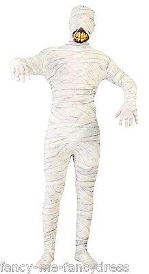 Herren Mumie 2nd Skin Antike Ägyptisch Halloween Kostüm Kleid Outfit Groß