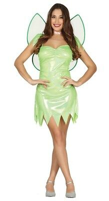 Womens Fairy Dress (Adult Magical Fairy Tinkerbell Pixie  Womens Ladies Fancy Dress)