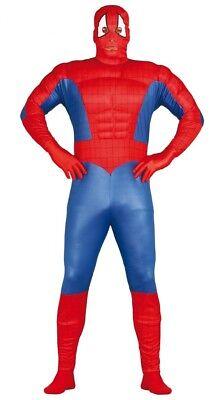 Erwachsene Herren Spiderman Kostüm Superheld Muskel Kostüm Halloween Outfit M-XL
