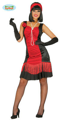 Rotes Charleston Kleid Karneval 20er Jahre Motto Party Kostüm für - 20er Jahre Mottoparty Kostüm