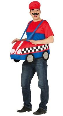 Mens Ladies Mario Kart 1980s 1990s Stag Hen Do Funny Fancy Dress Costume Outfit