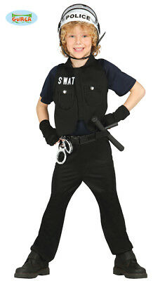 GUIRCA Costume SWAT poliziotto carnevale bambino mod. - Carnevale Kostüme