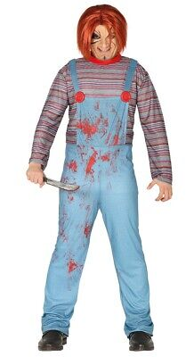 Adult Mens Chucky Costume Killer Baby Halloween Fancy Dress Outfit Size M/L ()