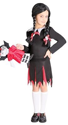 ddams Family Halloween Kostüm Kleid Outfit 3-12 Jahre (Addams Family Mädchen)
