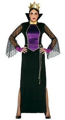 Maléfique Dames Miroir Reine Blanche Neige Costume Déguisement Halloween 12-18