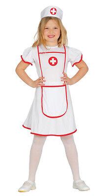 Krankenschwester Karneval Fasching Party Kostüm für Mädchen weiß rot Gr. 110-146