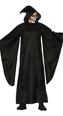 Erwachsene Herren Sensenmann Kostüm Schwarz Death Eater Mittelalter Robe - Death Eater Kostüm