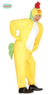 Huhn Kostüm für Erwachsene Unisex Karneval Fasching Tier Henne Hühnchen (Für Erwachsene Unisex Kostüm)