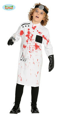 Children's Halloween Mad Scientist Killer Doctor Costume