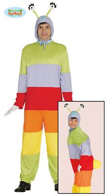 Wurm Kostüm (Raupe Wurm Insekt Kostüm Raupenkostüm Herren one size)