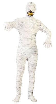 Herren unheimliche Zombie Kostüm ägyptisch Halloween Mumie Outfit 40-44 NEU