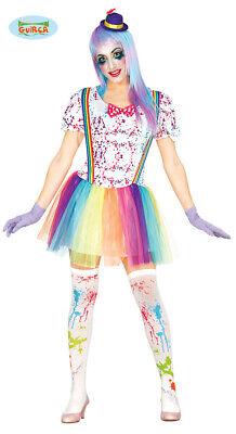 buntes Clown Kostüm für Damen Karneval Fasching Party - Lustige Kostüme Damen