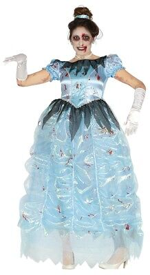 Womens Zombie Cinderella Costume Halloween Fancy Dress Ladies Princess Outfit