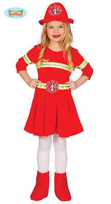 Schickes Feuerwehr Kostüm Kleid für Kinder Mädchen Brandbekämpferin