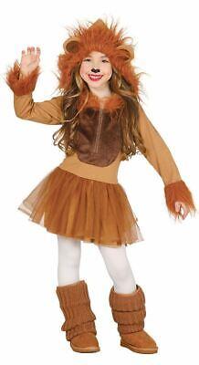 Girls Brown Lioness Cub Fancy Dress Costume Animal Jungle Zoo Book Day - Jungle Book Fancy Dress Kostüm
