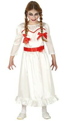 Girls Annabelle Costume Scary Kids Child Evil Doll Halloween Fancy Dress - Scary Costumes For Girls For Halloween