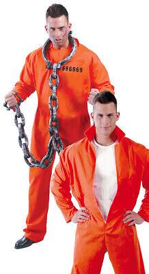 Sträfling Kostüm für Herren Gefängnis Gefangener Halloween Knasti - Gefängnis Kostüme