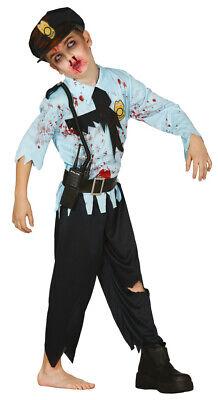 Zombie Polizist Halloween Karneval Kostüm für Jungen Untoter - Zombie Kostüme Für Jungen
