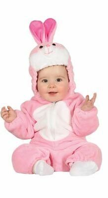 Girls Toddlers Baby Pink Bunny Rabbit Fancy Dress Costume Romper Animal - Pink Bunny Baby Kostüm