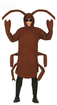COCKROACH COSTUME SILLY FANCY DRESS BUG ADULT BIG INSECT HALLOWEEN OUTFIT NEW