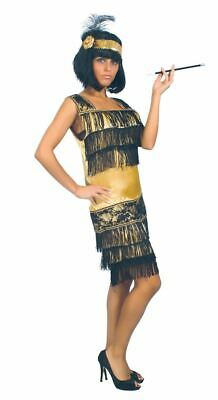 Womens 1920s Golden Charleston Flapper Great Gatsby Fancy Dress Costume - Great Gatsby Outfit Women