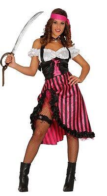 Damen Burlesk Piraten Bösewicht Seeräuber Sexy Hen Kostüm Kleid Outfit