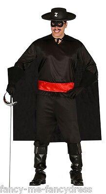 Herren Maskiert Bandit TV Film Hero Bösewicht Dieb Kostüm Kleid Outfit Groß ()