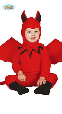 Baby Teufelchen Kostüm mit Flügeln Halloween Horror (Baby Teufel Kostüm Halloween)