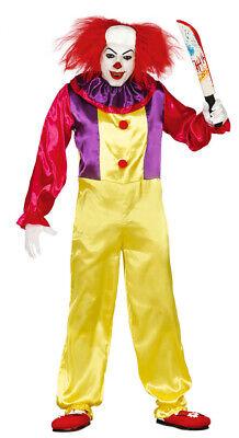 Killer Clown Halloween Horror Karneval Mörder Film Kostüm für Herren Gr. M/L