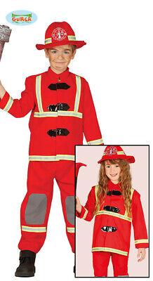 Feuerwehr Kostüm für Kinder Unisex Feuerwehrmann Feuerwehrfrau Karneval