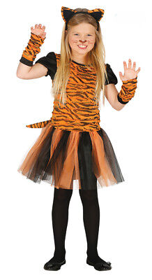 Girls Tiger Costume Jungle Fancy Dress Outfit Disney Play Kids Age 3-4-6-9 NEW - Tiger Fancy Dress Costume