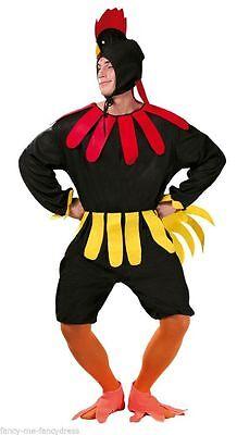 Herren Sehr Dumm Huhn Kostüm Hahn Junggesellenabschied Vogel Kostüm Outfit (Huhn Vogel Kostüm)