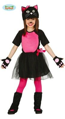 süßes pinkes Katzen Kostüm für Mädchen Karneval Fasching - Katze Kostüme Für Schwarze Katzen