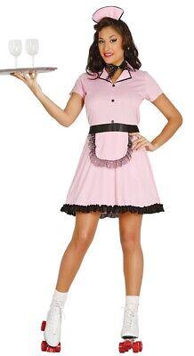 Damen 1950er Jahre Pink Roller Kellnerin Kostüm Junggesellinnenabschied - 1950er Jahre Kostüme