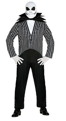 Jack Skellington Costume Mens Nightmare Before Christmas Halloween Outfit 38-44](Jack Nightmare Before Christmas Halloween Costume)