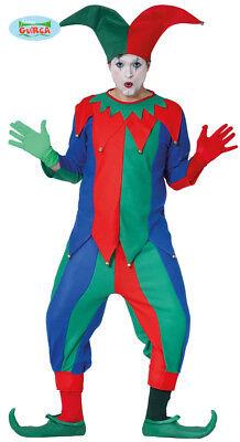 Narr Kostüm für Herren Karneval Fasching Hoffnarr Mittelalter Spaßmacher - Clown Narr Kostüm
