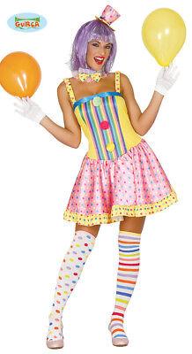 Buntes Clown Kostüm für Damen Karneval Fasching Party Geburtstag Lustig - Lustige Karneval Kostüm