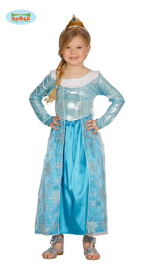 Costume elsa frozen carnevale vestito principessa ghiacci carnevale guirca 83328
