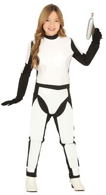 Girls White Space Trooper Fancy Dress Costume Childrens Book Day Outfit (Space Trooper Kostüm)